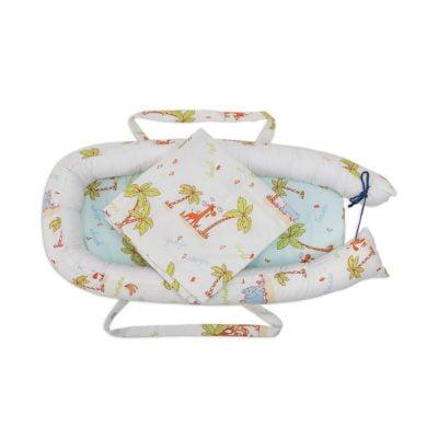 Baby Nest Somnart: babakosár + matrac 42x84x2 cm + kiságy 70×70 cm-es Dzungel modellek