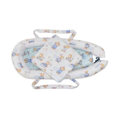 Baby Nest Somnart: babakosár + matrac 42x84x2 cm + kiságy 70×70 cm-es Medve modellek