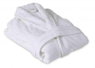 Somnart unisex 100% pamut fehér fürdőköpeny – L