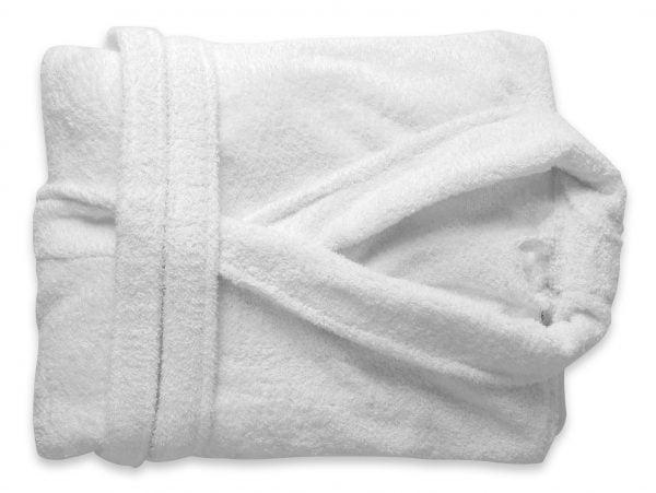 Somnart unisex 100% pamut fehér fürdőköpeny
