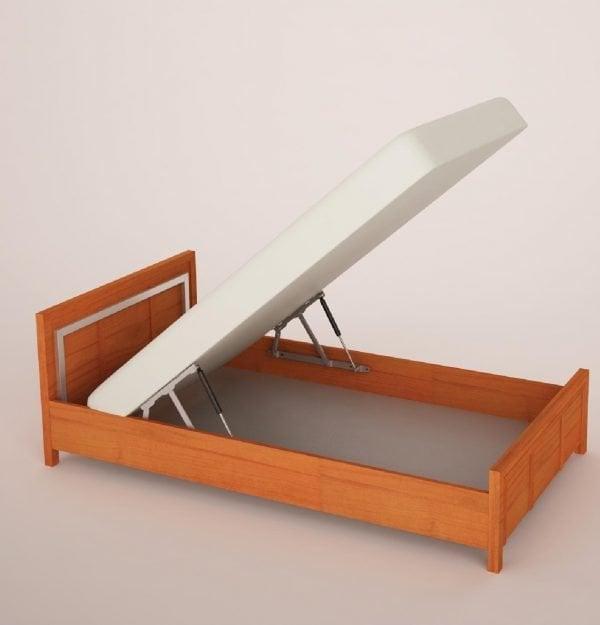 Pneumatikus emelő rendszer ágyrácshoz