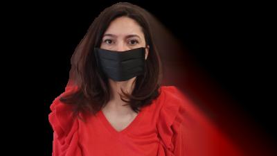 Fekete szájmaszk, 3 rétegű (A csomag 10 db szájmaszkot tartalmaz)