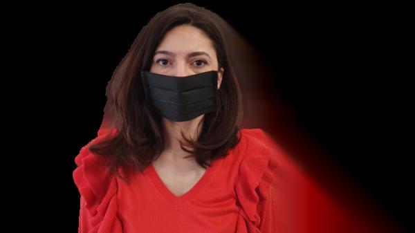Fekete szájmaszk, mosható (A csomag 10 db szájmaszkot tartalmaz)