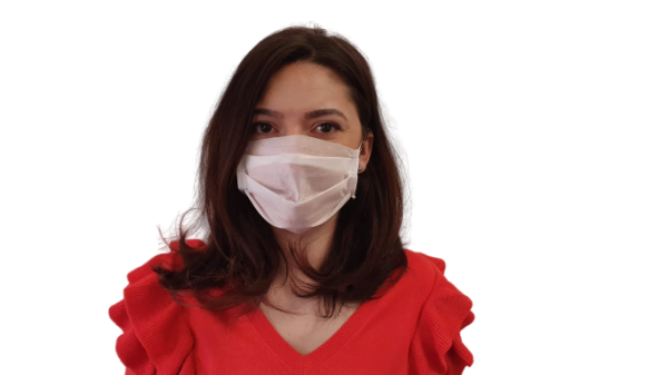 Fehér szájmaszk, 3 rétegű (A csomag 10 db szájmaszkot tartalmaz)