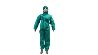 Protectiv ruha, nem szőtt anyagból, cipzárral és elasztikus szalaggal – L