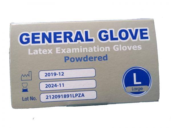 SET 100 x LATEX kesztyű a kézvédelemhez, fehér – M
