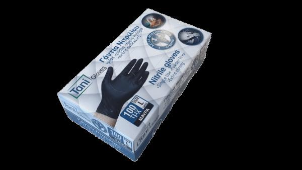 SET 100 x kék kesztyű, NYTRIL, kézvédelemhez, por nélküli – XS