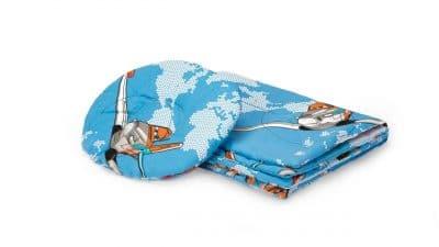 Babaágy + párna szett a baba fejéhez, Aviator modell