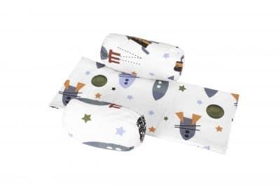 Biztonsági védő és takaró a babáknak, rakétamodellel
