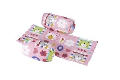 Biztonsági védő és takaró a babáknak, virágmintával
