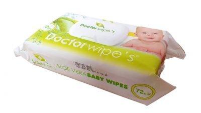 Servetele Umede Bebelusi Doctor Wipe's 72 buc cu Capac Aloe Vera